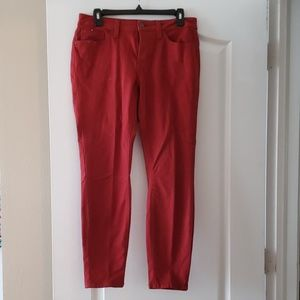 A.n.a. Size 10 skinny ankle pants rust colored.
